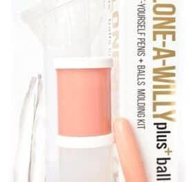Clone-a Willy Plus Balls Kit Light Skin Tone Replica Dildo Vibrator Cock Penis DIY Light Skin Tone I Adore Love Sex Toys Dildo BDSM Gift Card Massage Oils