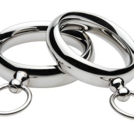 XR Brands Master Series Lead Me Stainless Steel Cock Ring 1.95 I Adore Love Sex Toys Lingerie GIft Card BDSM Accessories Massage Oil