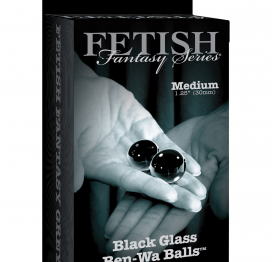 Fetish Fantasy Series Limited Edition Glass Ben-Wa Balls - Medium - Black