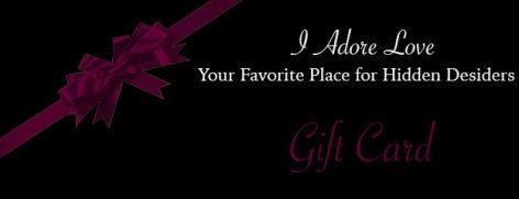 I Adore Love Sex Toys BDSM Lingerie Accessories Sexy Apparel Gift Card