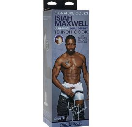Signature Cocks - Isiah Maxwell - 10 Inch Ultraskyn Cock With Removable Vac-U-Lock Suction Cup
